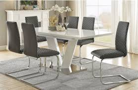 Contemporary White Dining Room Sets - dining room melrose discount furniture store