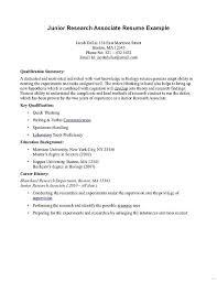 simple resume exle associates degree resume junior research associate exle simple
