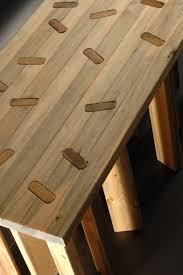 Modern Furniture Bench Bug Infested Wood Transformed Into Sleek Furniture Inhabitat