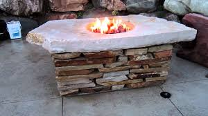 glass rocks for fire pit natural rock fire pit table mov youtube