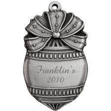 engravable pewter ornate ornament