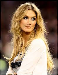 hairstyles with bangs and middle part blonde tousled center part hairstyles delta goodrem long hair