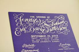 purple and gold wedding invitations eric s colorful gold foil calligraphy wedding invitations