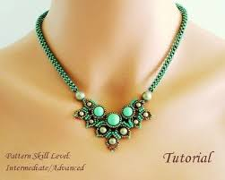 tutorial beading necklace images Chimere beaded necklace beading tutorial beadweaving pattern etsy jpg