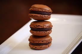 chewy chocolate gingerbread macarons peanut butter and julie