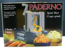 paderno cuisine spiral vegetable slicer paderno cuisine spiral vegetable slicer ebay