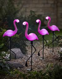 Bird Solar Lights by Set Of 4 Solar Flamingo Lights Simply Be
