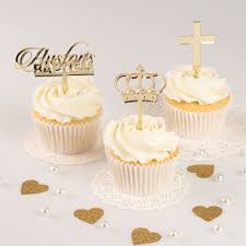 cupcake toppers personalised acrylic baby cupcake toppers christening cupcake