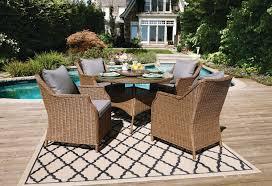 patio table lazy susan hometrends devon 5 piece dining set with lazy susan walmart canada