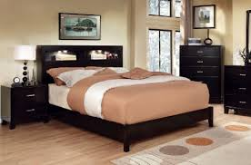 furniture of america metro platform bed with bookcase headboard