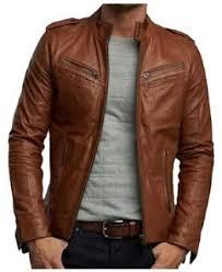 desain jaket warna coklat jual jaket kulit asli pria wanita online murah terima pesanan