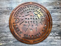 new orleans water meter new orleans streetcar metal damrill metal sculpture