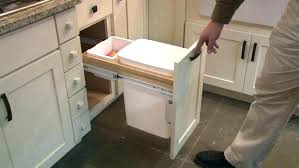 under sink trash pull out pull out trash cans kitchen cabinet organizers the home depot in