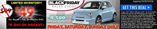 black friday car sales black friday saturday sunday lease deal fiat 500e for 49 per