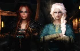 lore friendly frozen sisters elsa anna skyrim nexus
