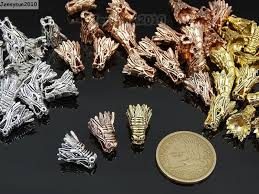 solid metal bracelet images Solid metal dragon head bracelet necklace connector charm beads jpg