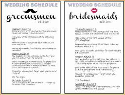 wedding itinerary template free wedding day schedule template