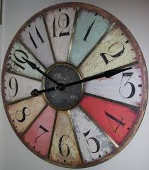 large wall clock large 29 vintage style paris wall clock insideout http www amazon