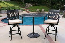 Patio Table Set High Top Patio Table Set Material Option Sorrentos Bistro Home