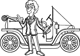 simpsons taxi driver car coloring page wecoloringpage