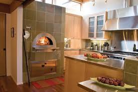 indoor kitchen indoor wood fired pizza ovens modern kitchen san francisco