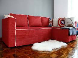 Bright Red Sofa Couch Cover For Sectional U2013 Way To Treat Furniture Wise Homesfeed