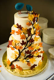 fall wedding cake toppers bird cake toppers a wedding cake