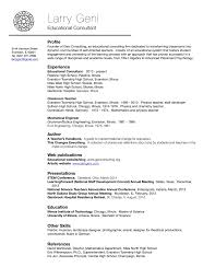 Job Resume Of Teacher by About Larry Geni U2014 Geni Consulting