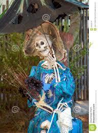 halloween decorations skeletons scary halloween decoration stock photos image 34459173