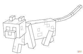 coloring pages minecraft ocelot coloring free printable