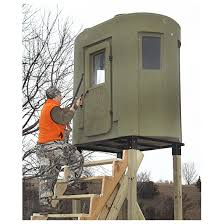 banks outdoors the stump 2 tower style deer stand hunting blind