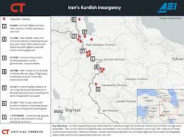 Kurdistan Map Iran U0027s Kurdish Insurgency Critical Threats