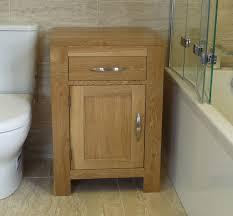 solid oak bathroom furniture basin cabinet 60cm wide x 50cm single