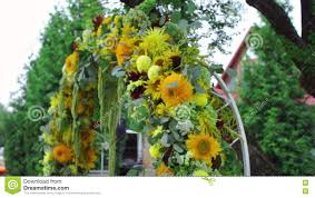 flower wedding arch decoration in a rustic style stock video