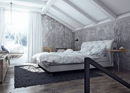 interior luxury industrial interior bedroom featuring grey