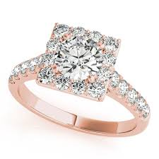 diamond rings square images Gold engagement ring avant garde square halo diamond side stones jpg