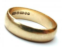 80s wedding band understanding markings on jewelry lovetoknow