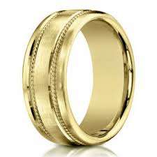 gold mens wedding bands men s 18 k gold wedding ring rope design 7 5mm width