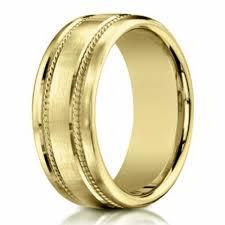 mens gold wedding bands men s 18 k gold wedding ring rope design 7 5mm width