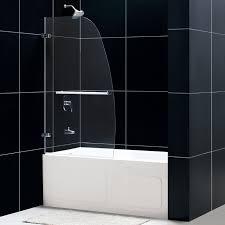 dreamline shdr 3534586 0 aqua uno single panel hinged tub shower