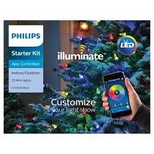 philips 25ct christmas led illuminate start kit mini string