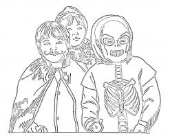 halloween coloring pages halloween costumes coloring pages