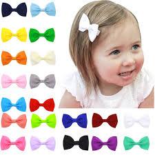 baby hair clip baby girl hair mini bow 20 pack