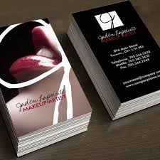 fully customizable cosmetics business cards created by colourful designs inc