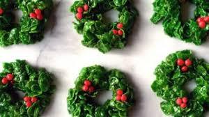christmas wreaths marshmallow christmas wreaths just a taste