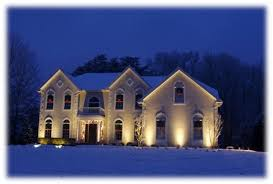 accent outdoor lighting st louis the beauty of landscape lights during winter enlightened lighting