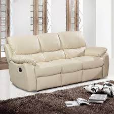 2 Seater Recliner Leather Sofa Cream Leather Sofa Roselawnlutheran