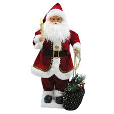 shop holiday living 28 in christmas plastic lighted musical santa