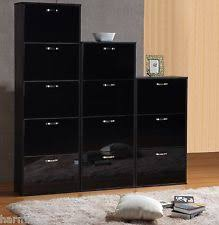 Slim Shoe Cabinet Modern High Gloss White 3 Tier Billi Shoe Cabinet Tall Slim Space