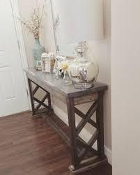 entry way table rustic style sofa entry way table by laceyswoodworking on etsy for